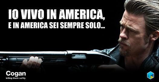 Mentre la radio racconta la sfida Obama-McCain e la crisi esalta ogni crimine, due piccoli malviventi fanno un colpo alla bisca... #meme #cinequotes #quotes #BradPitt #KillingMeSoftly #Cogan #Obama #America #USA #Film #Cinema