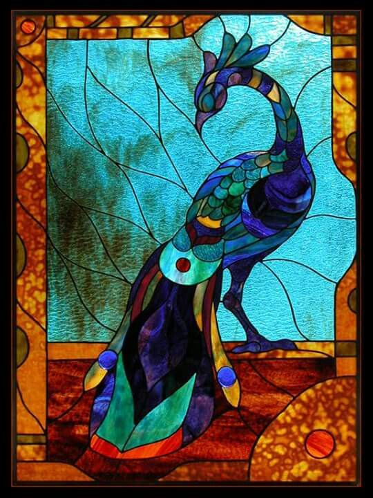 779 Best Stained Glass Pea Cock Images On Pinterest