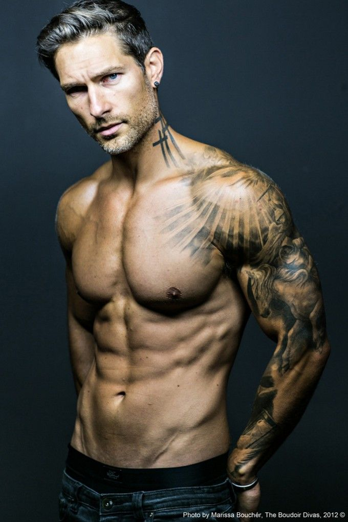 Ray Of Light & Horse: Male Model Weston Boucher By Marissa Boucher | Tattoo Sleeve: 53 Fashionable Ideas
