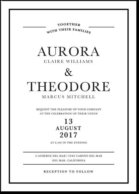 Pristine Romance Signature White Wedding Invitations With Square Corners