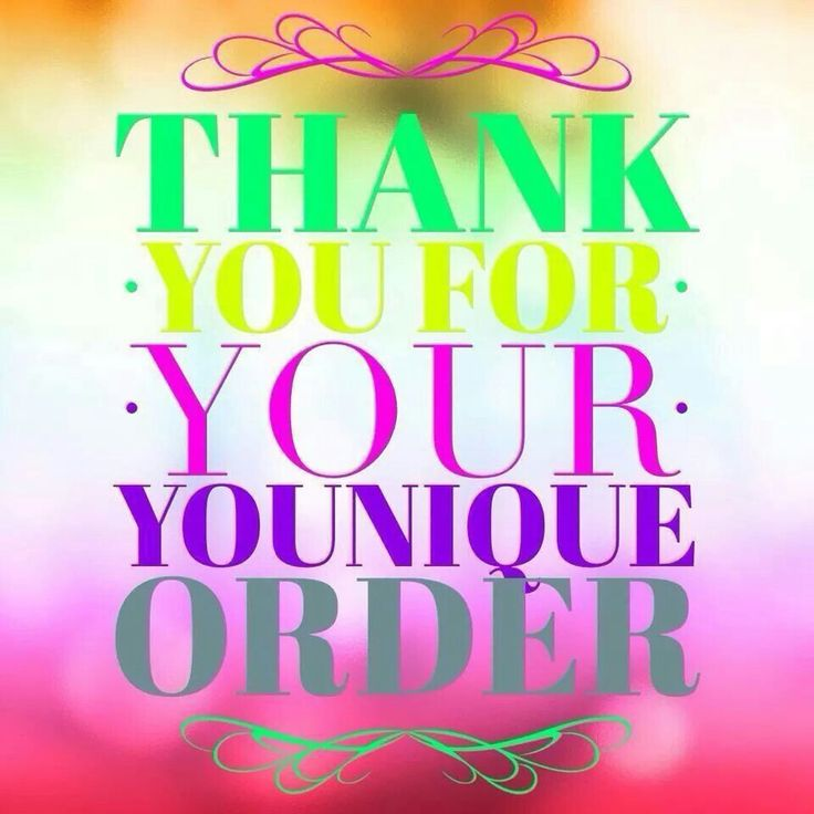 Thank You For Your Purchase Younique By Farrah