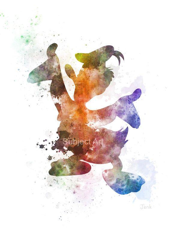 Ilustración de la impresión del arte de pato Donald, Disney, arte de la pared, decoración del hogar, guardería