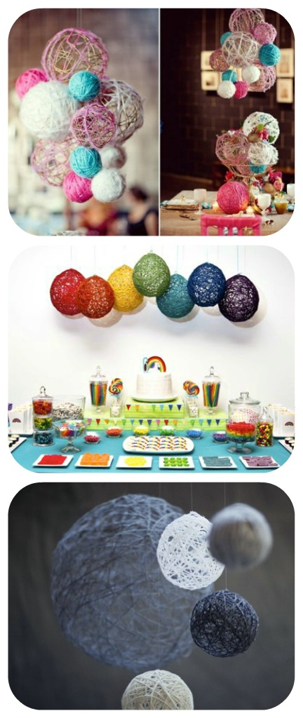 50 Beautiful Yarn Craft Tutorials...Really great ideas for parties and decor.