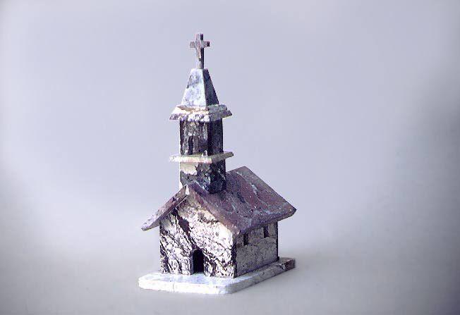 Artesania Chilena Iglesia en piedra Conbarbaleta