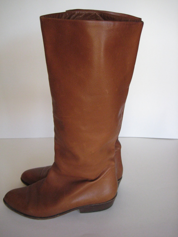 Vintage Chantal Brown Leather Boots size 6. $55.00, via Etsy.