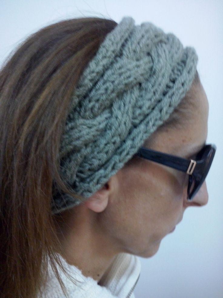 Κορδέλα με πλεξίδα για το κεφάλι.Σεμινάριο Πλέξιμο με βελόνες Β΄Κύκλος.