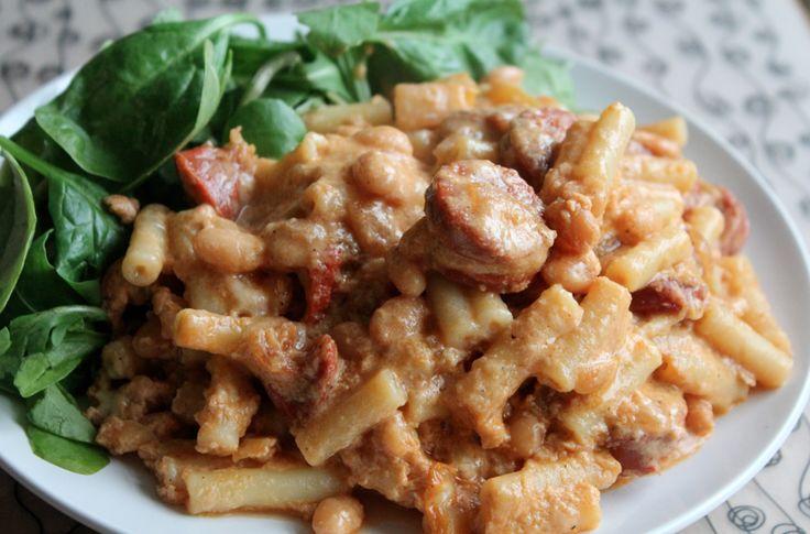 Skinny chorizo mac n cheese
