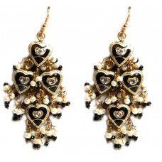 Black Bollywood Ethnic Earrings