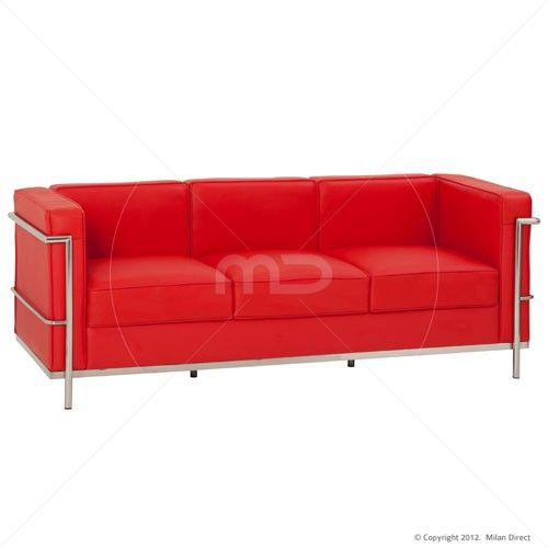 le corbusier sofa 3 seat red buy business furniture office rh pinterest com