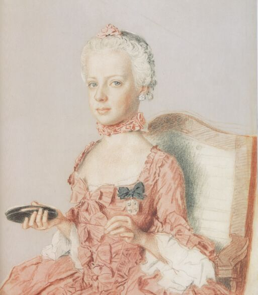 1762 Marie Antoinette at about age seven by Jean-Etienne Liotard (Musee d'art, Geneva)
