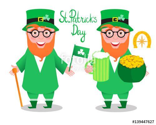 Вектор: Leprechaun. St.Patrick 's Day