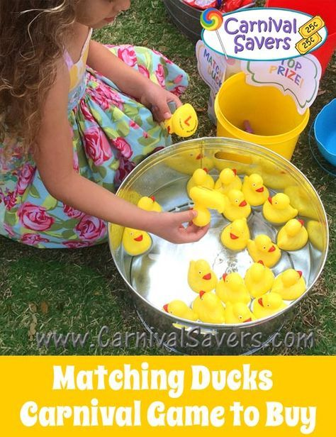 More carnival party ideas  Matching Ducks Birthday Party Carnival Game