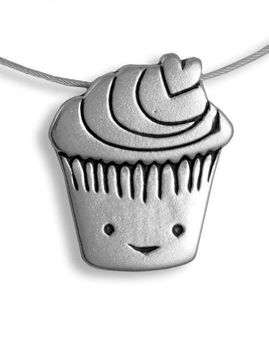 Sterling Silver Cupcake Charm Necklace  #MadeinUSA #AmericanMade #USAMade #Gifts #AmericanMadeGifts #MothersDay