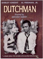 """Video version of Baraka's """"Dutchman"""" starring Shirley Knight and (recently deceased) Al Freeman, Jr. Video cassette is on reserve at Hunter's Wexler Library if you want to view it again."""