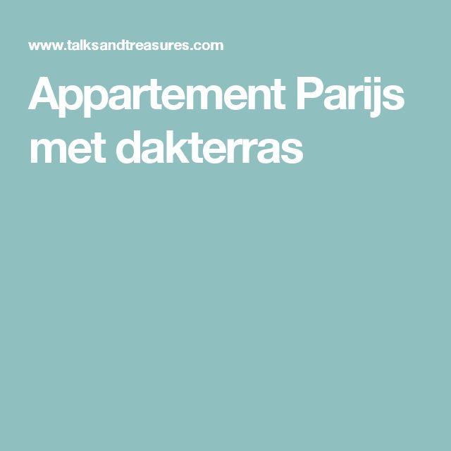 Appartement Parijs met dakterras