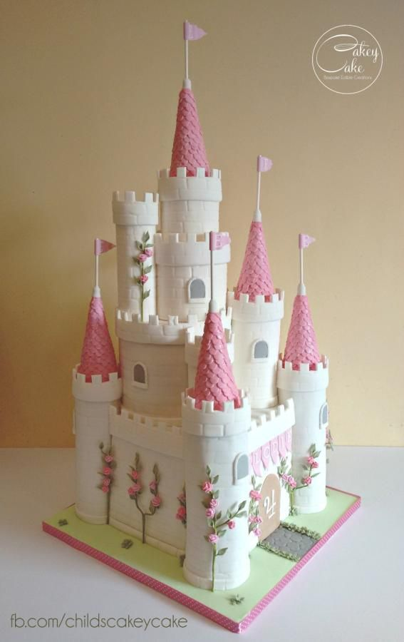 Princess Castle Cake by CakeyCake