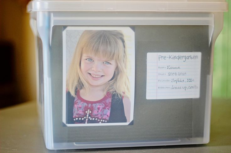 A storage container for your kids school work from preschool to grade 12!