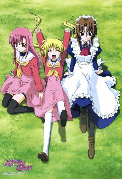 Hayate No Gotoku-Maria, Nagi and Hinagiku