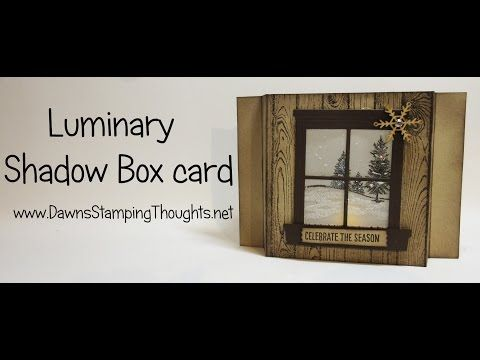 Today we will be making another type of luminary card using the battery operated tea lights . Hardwood stamp plus the Happy Scenes Stamp set and the Hearth &...
