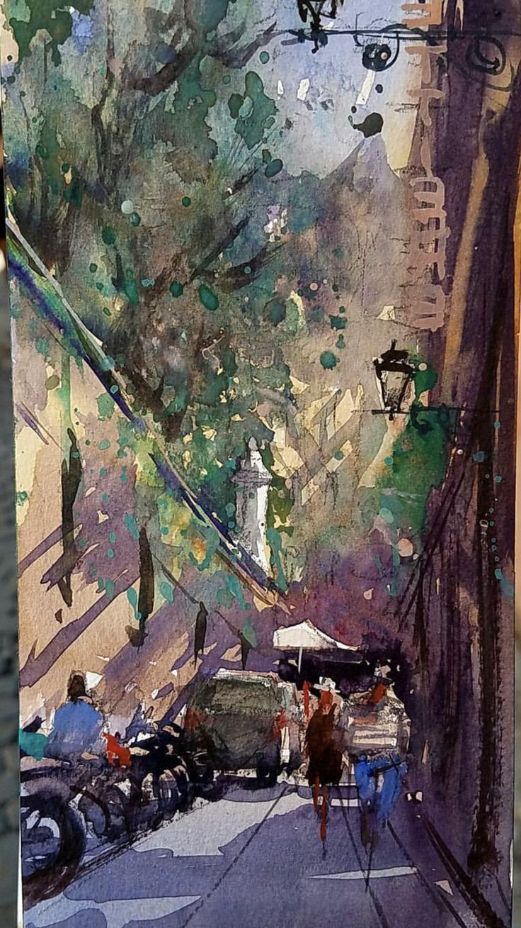 Watercolor artists directory wiki - Keiko Tanabe Plein Air Sketch From Rome Italy Watercolour Paintingslandscape