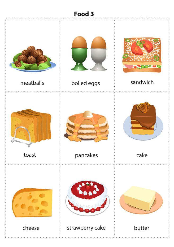 картинки еды для распечатки для английского вас нет
