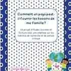 Comment un pays peut-il fournir les besoins de ma famille? - Un projet d'Études Sociales et Écriture avec une emphase sur les habilités de recherche et pensée critique