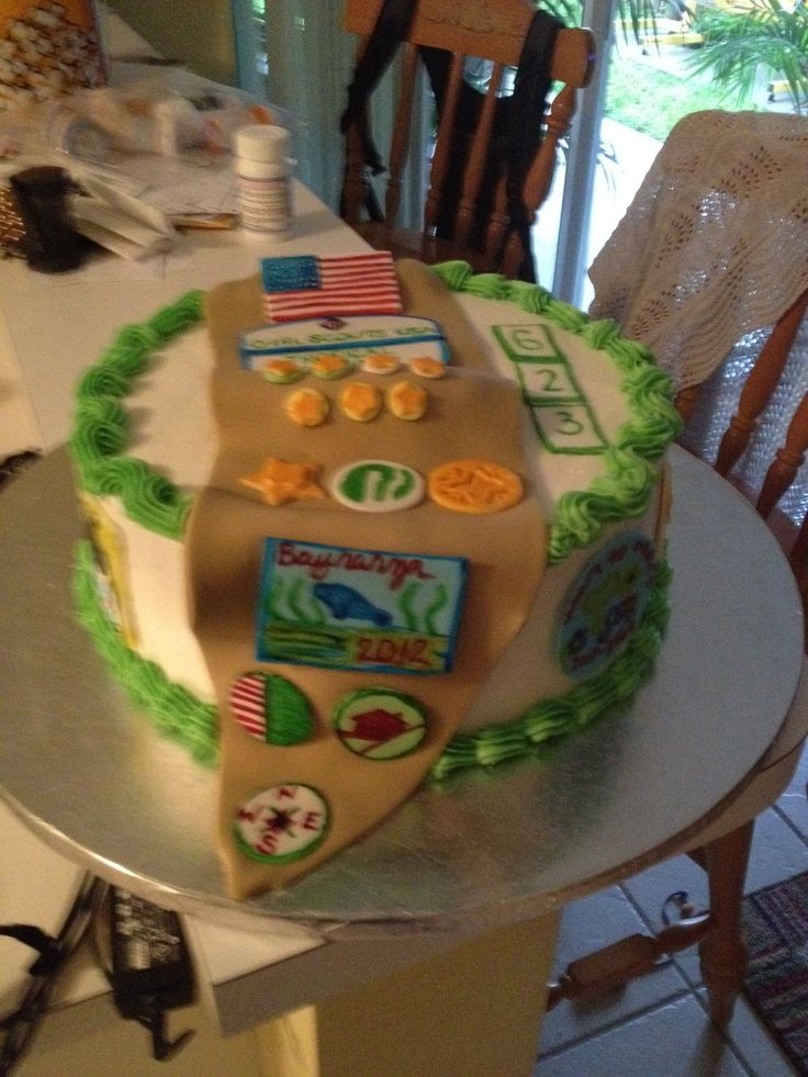 Cake Ideas For Girl Scouts : 78+ images about Bridging on Pinterest Frame crafts ...
