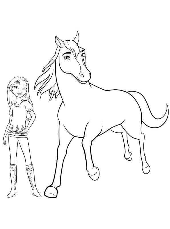 Spirit And Lucky Coloring Page Coloriage Cheval Coloriage Cheval A Imprimer Coloriage