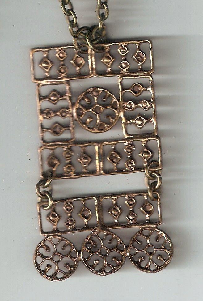 Pentti Sarpaneva, vintage modernist bronze necklace. #Finland