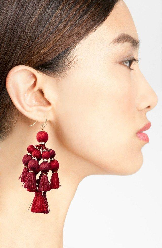 Pretty Pom Tassel Earrings by Kate Spade