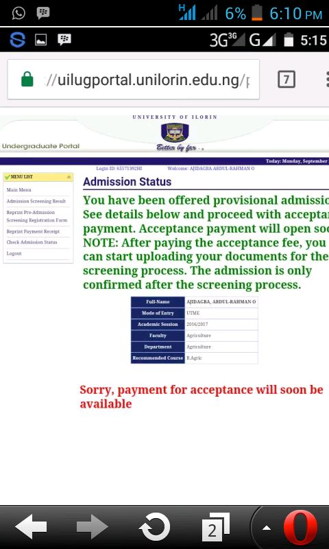 There is a confirmation that the management of University of Ilorin has released 2nd Batch list of a...