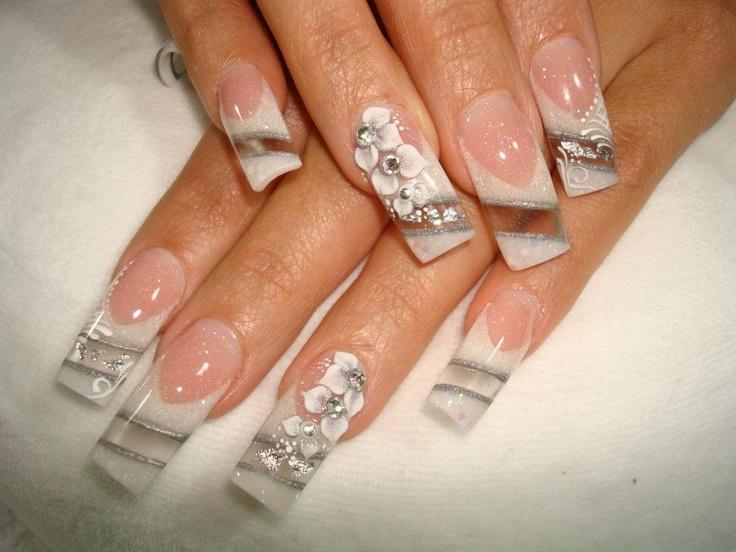 ♥ Acrylics - Bridal Nails