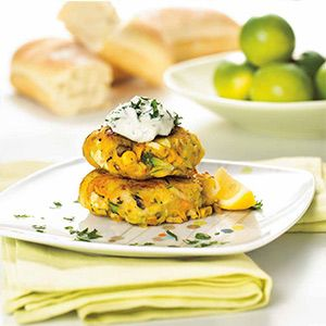 Vegetable Patties with Herb & Garlic Sauce