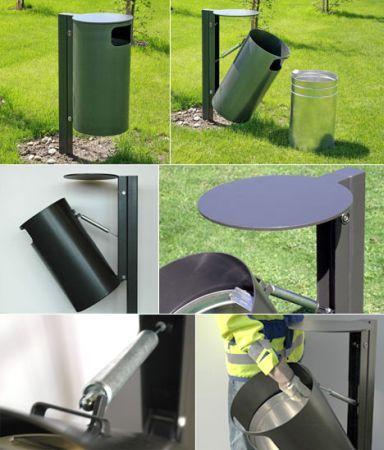 新型公共垃圾桶轻松提起它u201c内胆u201d|北京思