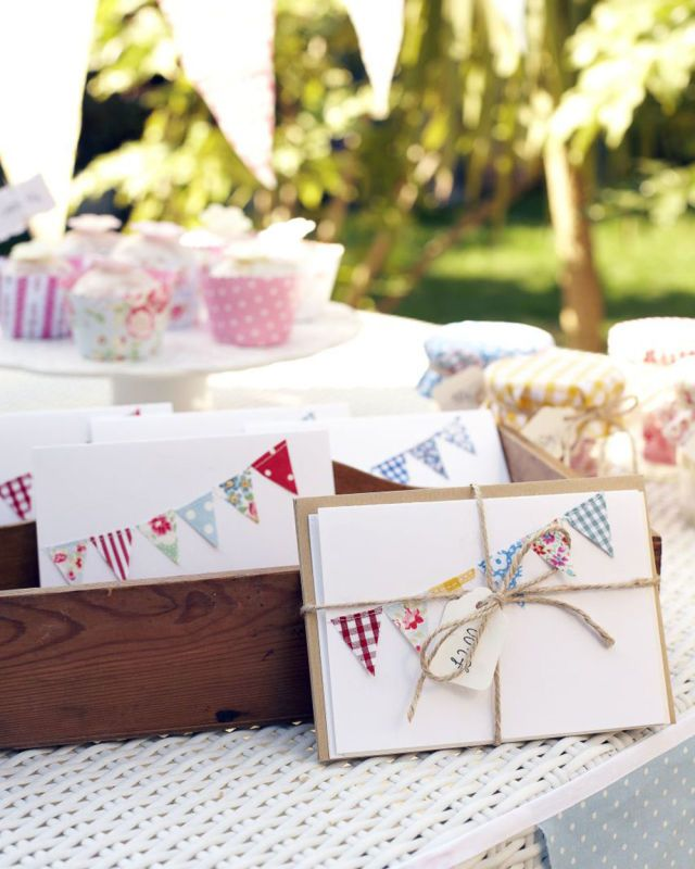 Handmade cards with bunting decoration prima.co.uk