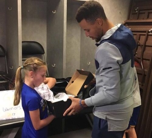 Nine-year-old Jordyn Johnsen of Santa Rosa, Calif., lost almost everything in the North Bay wildfires. When she was asked to grab one thing while being evacuated from her burning neighborhood, she chose her pair of Curry 3s, the signature shoe of Golden State Warriors superstar #StephenCurry.