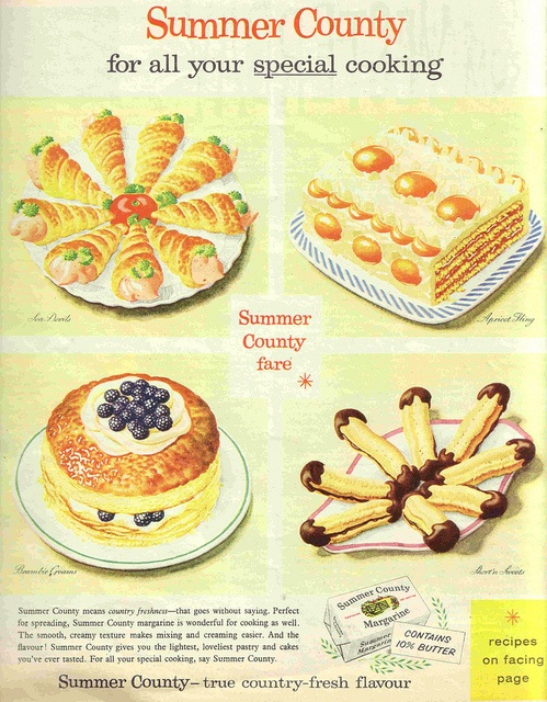 Four Food Groups, courtesy of Stork Margarine.