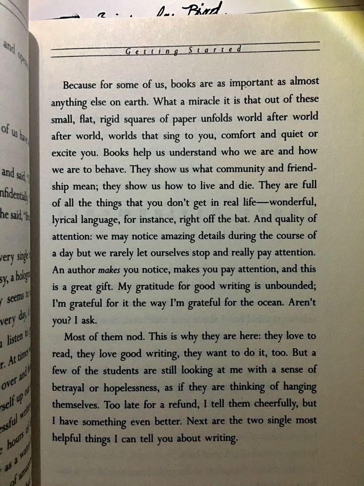 On reading and writing Anne Lamott Bird