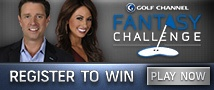 Golf Channel Fantasy Challenge logo with Morning Drive hosts. Every Wednesday experts share their picks.