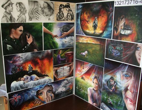 Most popular tags for this image include: art, tasha meys, atonement, colour and love