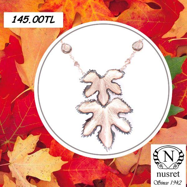 #doğaltaşlı #sonbahar #gümüş #kolye #gumuskolye #rose #yaprak #kampanya hemen alışveriş yap