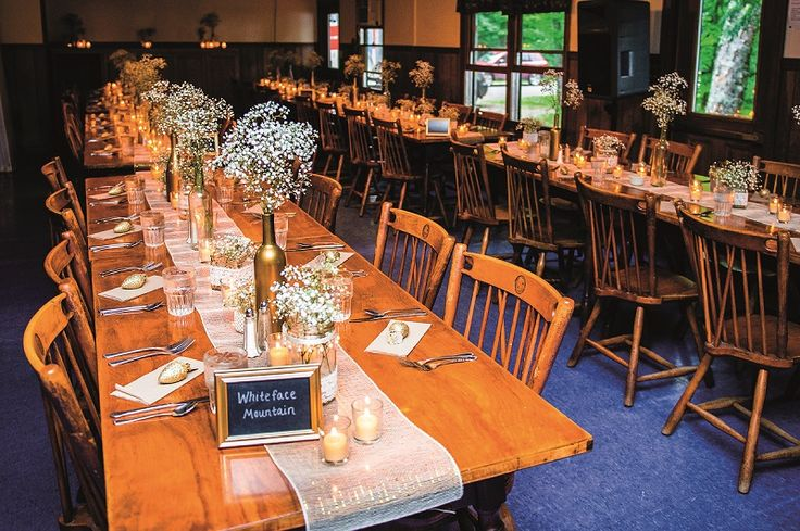 The reception, which was held at Camp Canaras, had an Adirondack elegance about it, and felt like a glamorous summer camp, said the bride. http://www.herworldplus.com/weddings/real-weddings/be-inspired-gorgeous-summer-camp-wedding-new-york-lake-house #adirondack #summer #camp #newyork #campsaranac #usa #rustic #woody #wedding #weddings #brides #bridal #weddinginspo