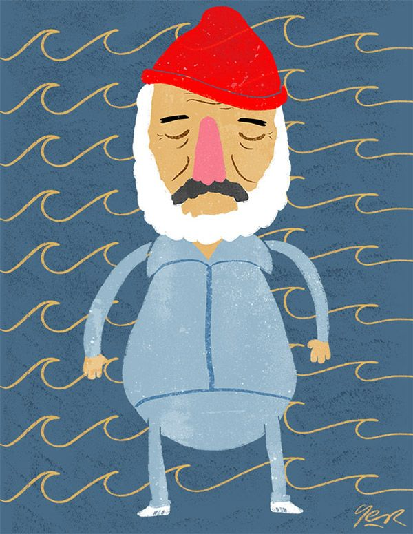 Steve Zissou by Germán Menini, via Behance