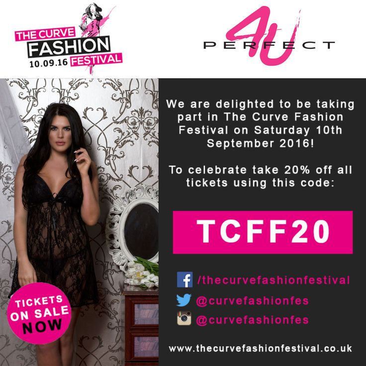 We are delighted to be taking part in The Curve Fashion Festival on Saturday 10/9/2016! To celebrate get 20% off all tickets using this code: TCFF20!