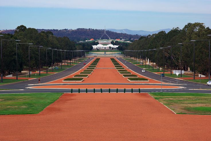 view to parliament house canberra from war memorial
