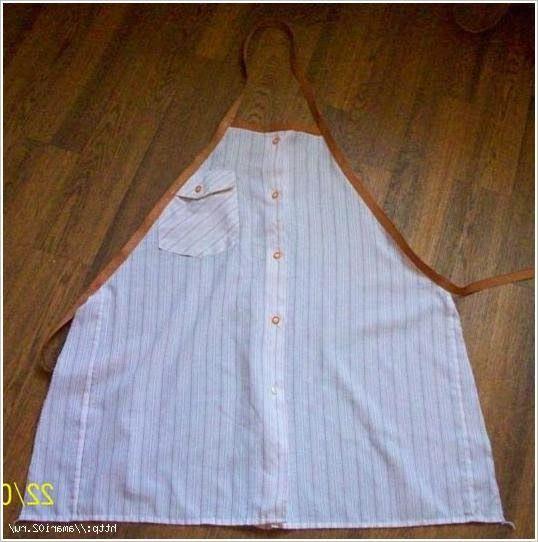 Как сшить фартук из мужской рубашки. Apron from a man's shirt