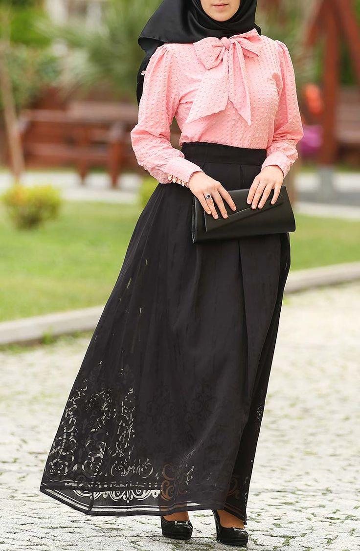 Tasarım Prenses Etek - Siyah