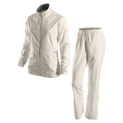 Keep the wind, rain and cold out with this great looking womens packable golf rain suit by Nike!