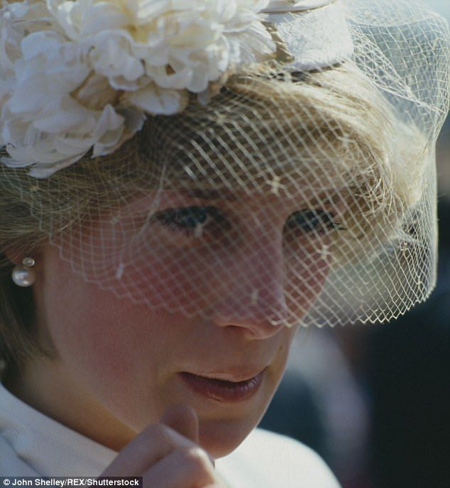 Princess Diana is pictured in 1983, during a royal tour of Australia