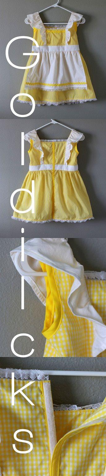 DIY Goldilocks Pinafore/Apron pattern & instructions